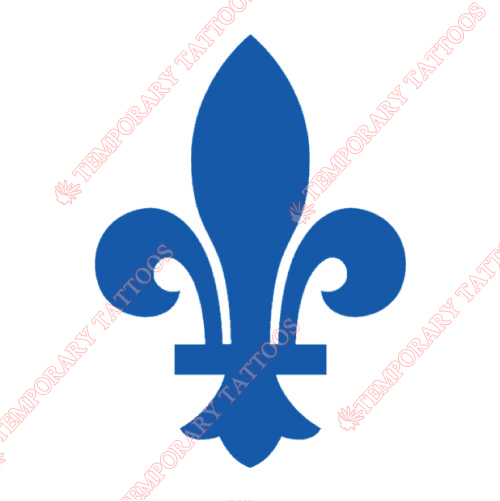 Quebec Nordiques Customize Temporary Tattoos Stickers NO.7152