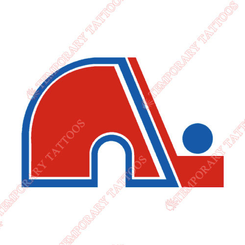 Quebec Nordiques Customize Temporary Tattoos Stickers NO.7154
