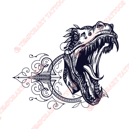 Dinosaur Customize Temporary Tattoos Stickers NO.8757