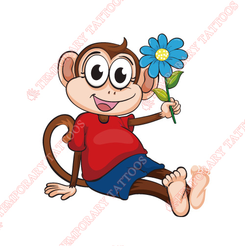 Monkey Customize Temporary Tattoos Stickers NO.8646