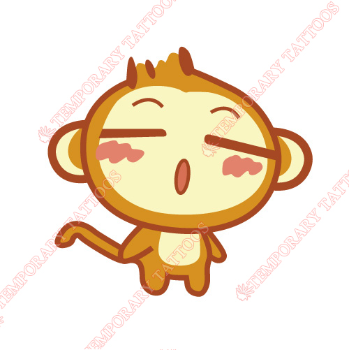 Monkey Customize Temporary Tattoos Stickers NO.8684