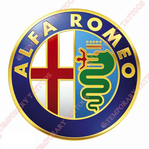 Alfa Romeo Customize Temporary Tattoos Stickers NO.2026