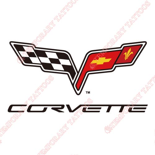 Corvette Customize Temporary Tattoos Stickers NO.2040