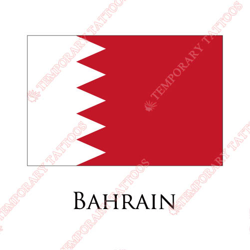 Bahrain flag Customize Temporary Tattoos Stickers NO.1823