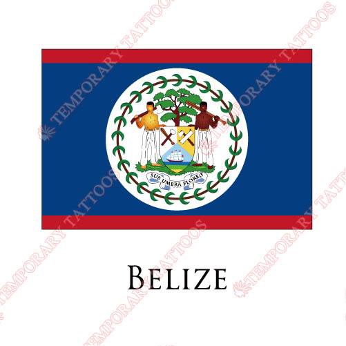 Belize flag Customize Temporary Tattoos Stickers NO.1828