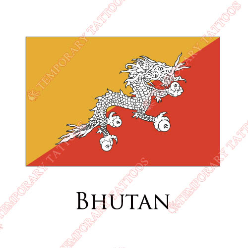 Bhutan flag Customize Temporary Tattoos Stickers NO.1831