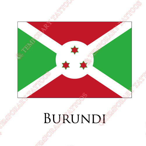 Burundi flag Customize Temporary Tattoos Stickers NO.1839