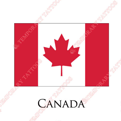 Canada flag Customize Temporary Tattoos Stickers NO.1842