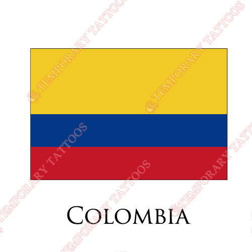 Colombia flag Customize Temporary Tattoos Stickers NO.1849