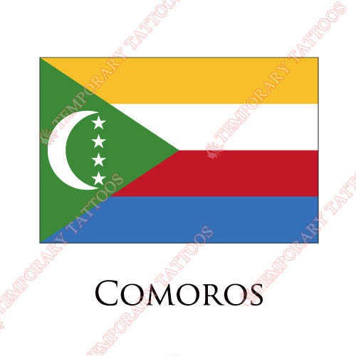 Comoros flag Customize Temporary Tattoos Stickers NO.1850