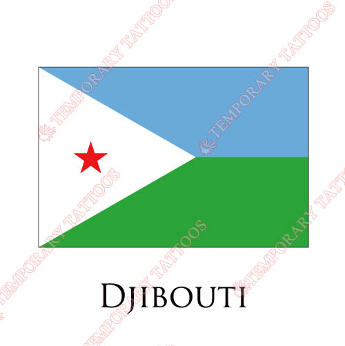 Djibouti flag Customize Temporary Tattoos Stickers NO.1860
