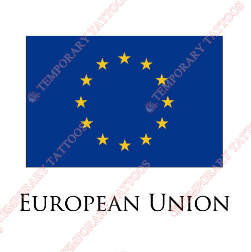 European Union flag Customize Temporary Tattoos Stickers NO.1871