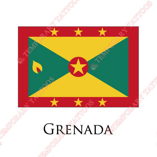 Grenada flag Customize Temporary Tattoos Stickers NO.1884