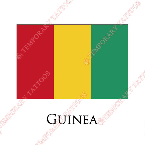 Guinea flag Customize Temporary Tattoos Stickers NO.1887