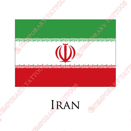 Iran flag Customize Temporary Tattoos Stickers NO.1896