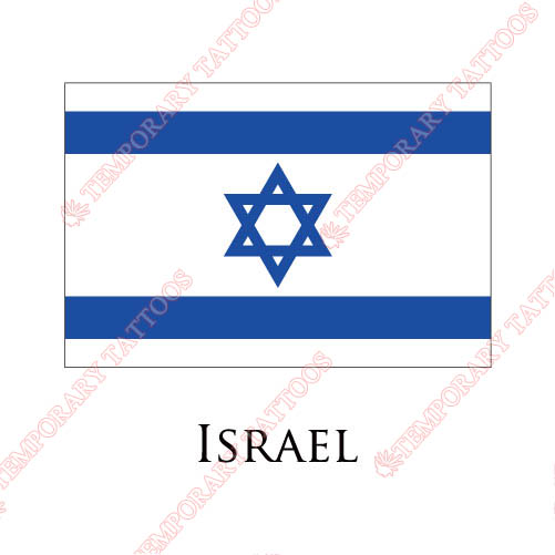 Israel flag Customize Temporary Tattoos Stickers NO.1899