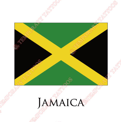 Jamaica flag Customize Temporary Tattoos Stickers NO.1901