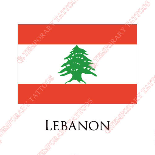 Lebanon flag Customize Temporary Tattoos Stickers NO.1911