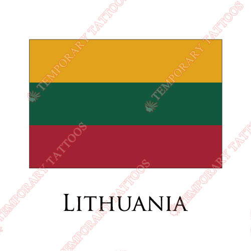 Lithuania flag Customize Temporary Tattoos Stickers NO.1916
