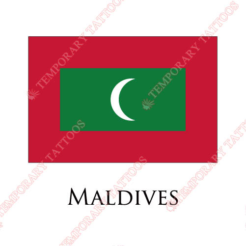 Maldives flag Customize Temporary Tattoos Stickers NO.1923