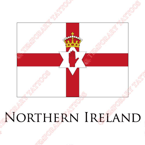 Northern ireland flag customize temporary tattoos stickers no 1948
