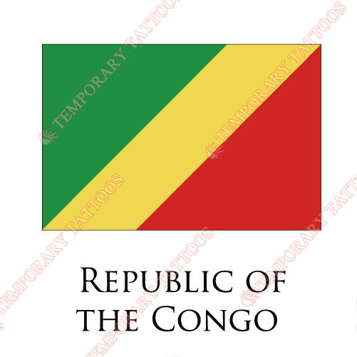 Republic Of The Congo flag Customize Temporary Tattoos Stickers NO.1963
