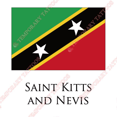 Saint Kitts And Nevis flag Customize Temporary Tattoos Stickers NO.1967