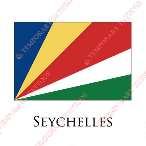 Seychelles flag Customize Temporary Tattoos Stickers NO.1979
