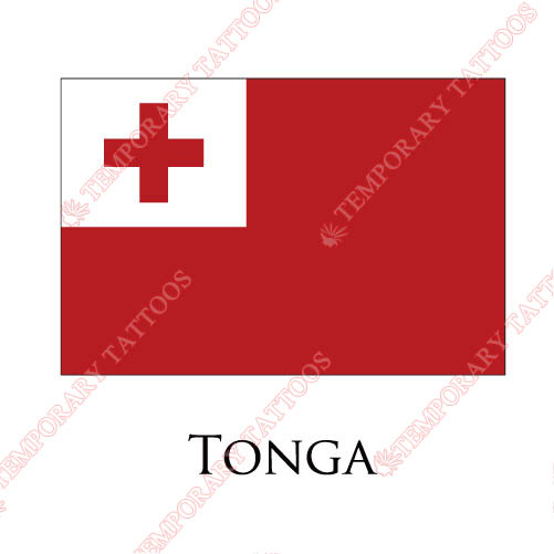 Tonga flag Customize Temporary Tattoos Stickers NO.2002