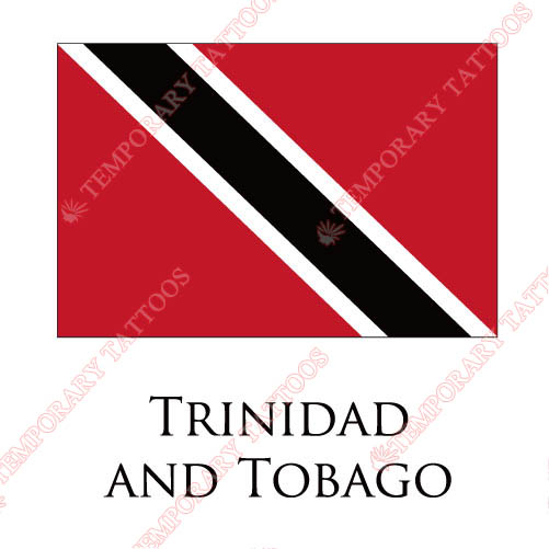Trindad And Tobago flag Customize Temporary Tattoos Stickers NO.2003