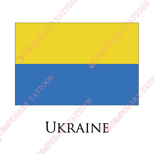 Ukraine flag Customize Temporary Tattoos Stickers NO.2009