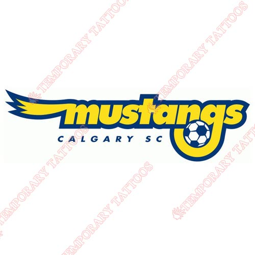 Calgary Mustangs Customize Temporary Tattoos Stickers NO.8273