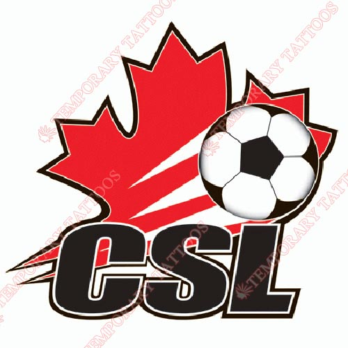 Canadian Soccer League Customize Temporary Tattoos Stickers NO.8274