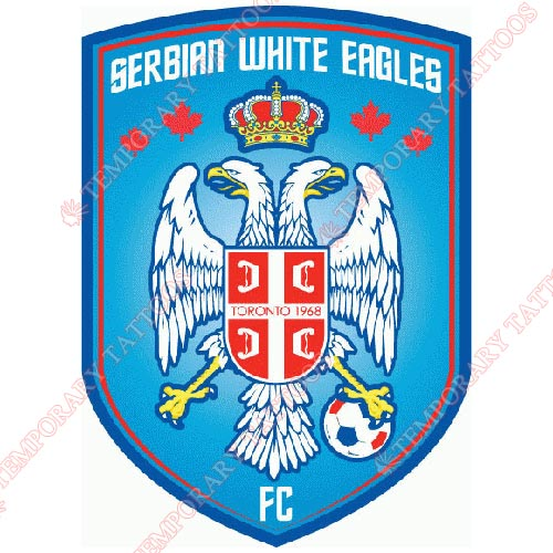 Serbian White Eagles FC Customize Temporary Tattoos Stickers NO.8474