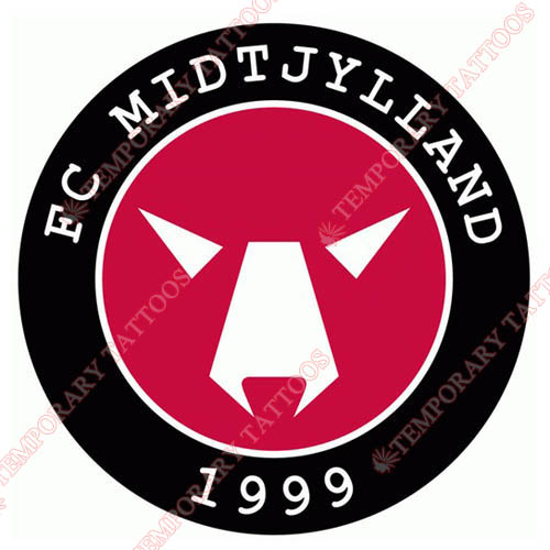 FC Midtjylland Customize Temporary Tattoos Stickers NO.8323