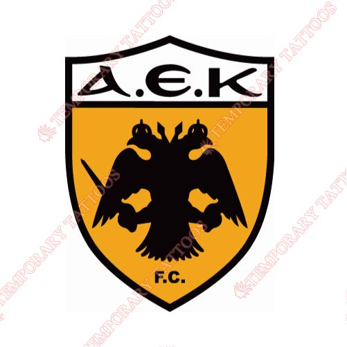 AEK Athens Customize Temporary Tattoos Stickers NO.8228