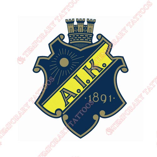 AIK Stockholm Customize Temporary Tattoos Stickers NO.8230