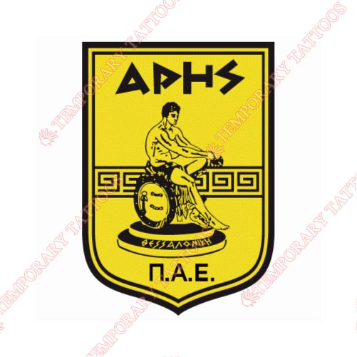 Aris Thessaloniki Customize Temporary Tattoos Stickers NO.8239