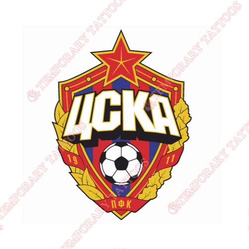 CSKA Moscow Customize Temporary Tattoos Stickers NO.8294