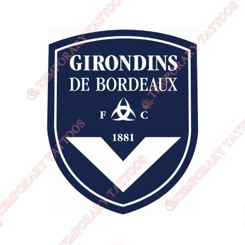 FC Girondins de Bordeaux Customize Temporary Tattoos Stickers NO.8319