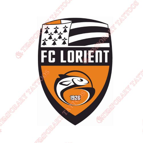 FC Lorient-Bretagne Sud Customize Temporary Tattoos Stickers NO.8321