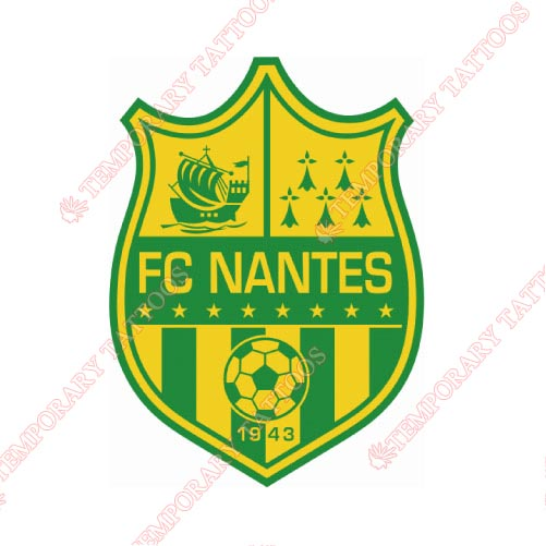FC Nantes Customize Temporary Tattoos Stickers NO.8324