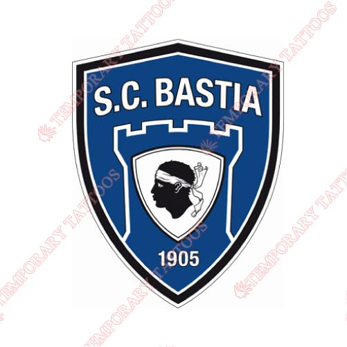 SC Bastia Customize Temporary Tattoos Stickers NO.8468