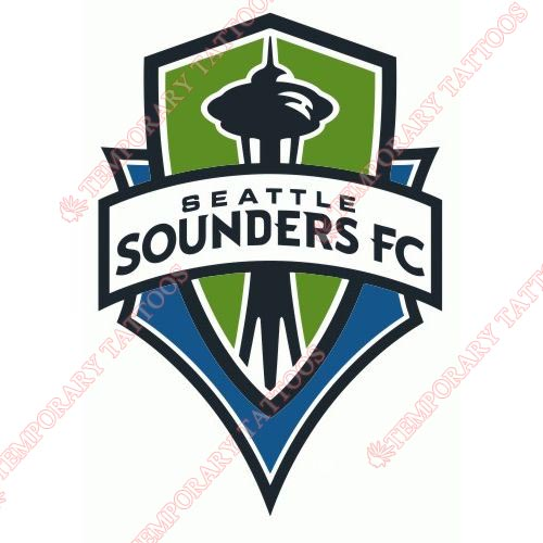 Seattle Sounders FC Customize Temporary Tattoos Stickers NO.8473