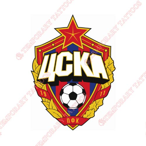 CSKA Moscow Customize Temporary Tattoos Stickers NO.8295
