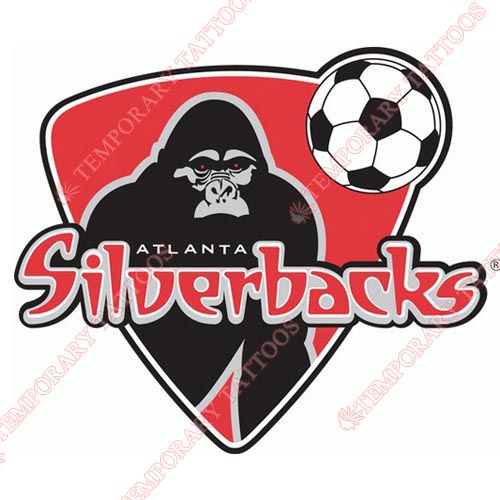 Atlanta Silverbacks Customize Temporary Tattoos Stickers NO.8248