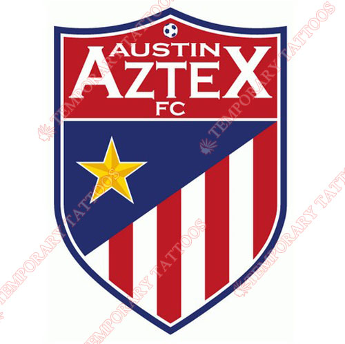 Austin Aztex FC Customize Temporary Tattoos Stickers NO.8252