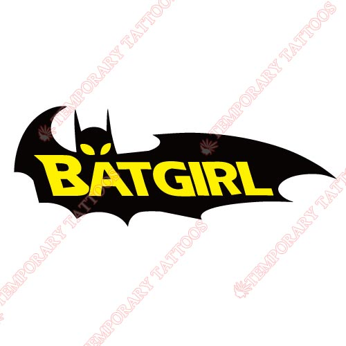 Batgirl Customize Temporary Tattoos Stickers NO.3