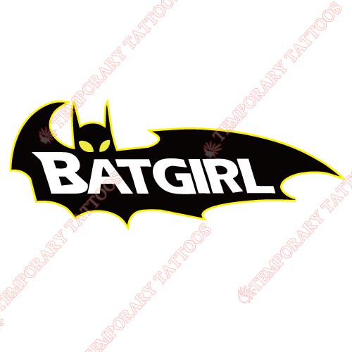 Batgirl Customize Temporary Tattoos Stickers NO.4