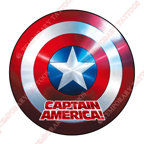 Captain America Customize Temporary Tattoos Stickers NO.57